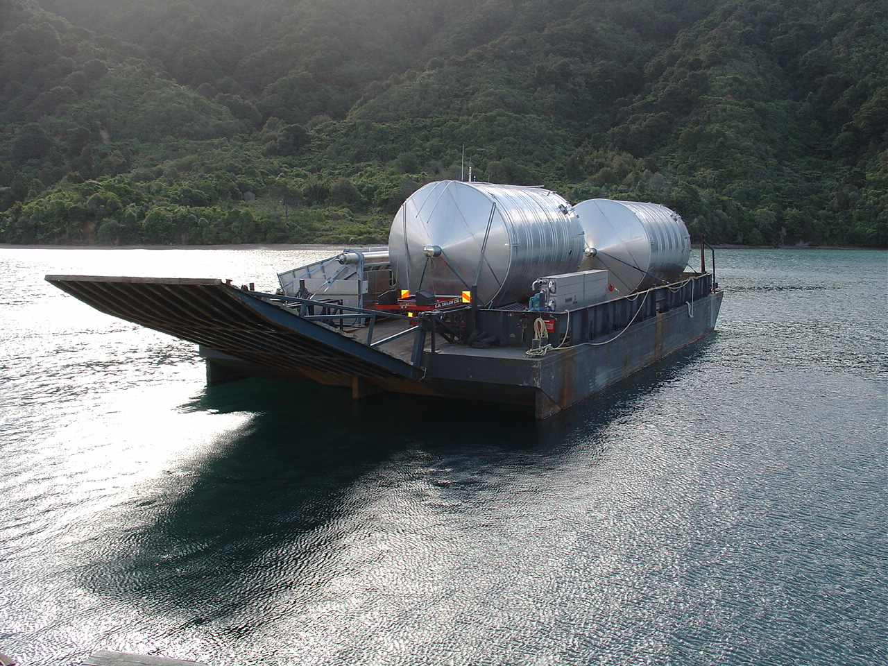 Deck barge with stern ramp - New Zealand Marine Brokers